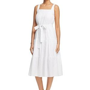 Michael Michael Kors White Tie Midi Dress
